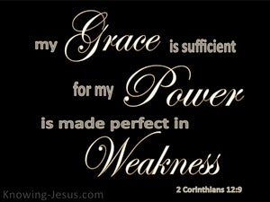 2 Corinthians 12:9 My My Grace Is Sufficient black