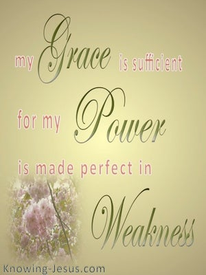 2 Corinthians 12:9 My Grace Is Sufficient (gold)