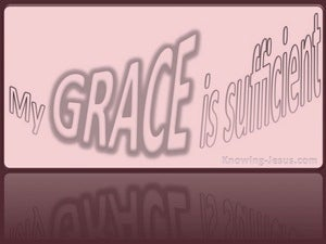 2 Corinthians 12:9 My Grace Is Sufficient pink