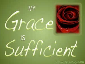 2 Corinthians 12:9 Sufficient Grace (green)