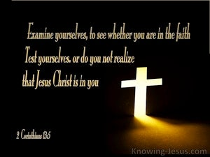 2 Corinthians 13 5 Test Yourselves To See If You Are In