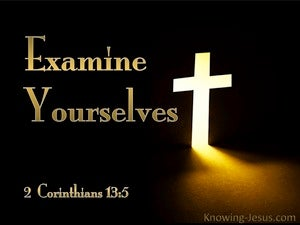 2 Corinthians 13:5 Examine Yourselves (black)