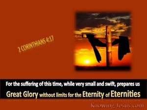 2 Corinthians 4:17 Coming Glory:brown