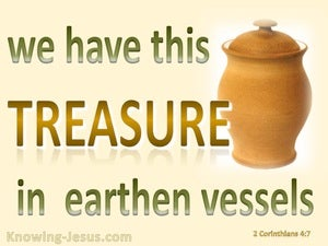 2 Corinthians 4:7 Treasure In Earthern Vessels beige