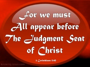 2 Corinthians 5:10 Judgement Seat Of Christ red
