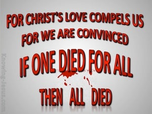 2 Corinthians 5:14 Love of Christ Compels Us red