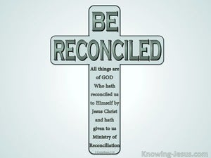 2 Corinthians 5:18 Be Reconciled green