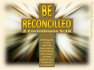 2 Corinthians 5:18 Be Reconciled yellow