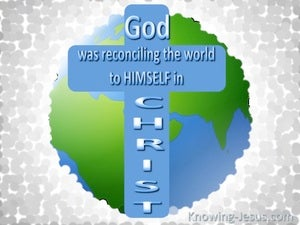 2 Corinthians 5:19 God Reconciling The World To Himself (gray)
