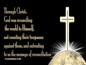2 Corinthians 5:20 God Was Reconciling The World To Himself gold