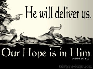 2 Corinthians 1:10 He Has Delivered Us (beige)