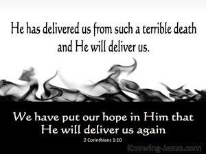 2 Corinthians 1:10 He Has Delivered Us (black)