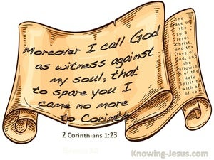 2 Corinthians 1:23 I Call God As My Witness (beige)