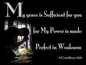 2 Corinthians 12:9 My Grace Is Sufficient For You (black)