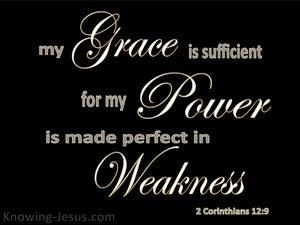 2 Corinthians 12:9 My My Grace Is Sufficient (black)