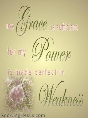2 Corinthians 12:9 My Grace Is Sufficient (gold)