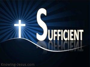 Our Sufficient Saviour (devotional) (blue) - 2 Corinthians 3:5