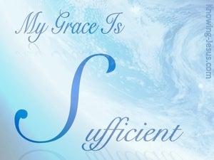 2 Corinthians 12:9 My Grace Is Sufficient (blue)