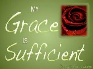 2 Corinthians 12:9 Sufficient Grace (green)