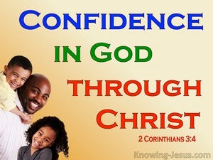 2 Corinthians 3:4 Confidence In God Through Christ (yellow)