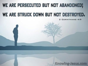 2 Corinthians 4:9 Persecuted But Not Destroyed (gray)