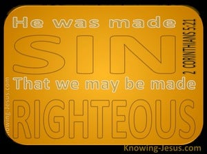 2 Corinthians 5:21 Sacrifice for Sin (devotional) (yellow)