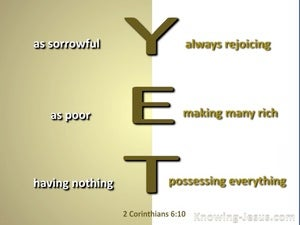 2 Corinthians 6:10 Sorrowful Yet Always Rejoicing (beige)
