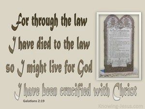 Galatians 2:19 In Him I Have Died To The Law brown