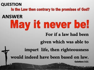 Galatians 3:21 Is The Law Contrary To God's Promises gray