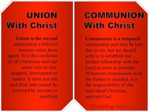 Galatians 3:27 Union And Communion With Christ red