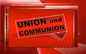Galatians 3:27 Union and Communion red