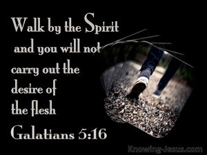 Galatians 5:16 Walk By The Spirit (beige)