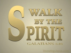 Galatians 5:16 Walk By The Spirit (gold)