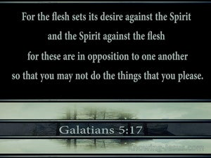 Galatians 5:17 The Flesh Lusts Against The Spirit (black)