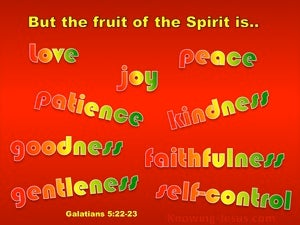 Galatians 5:22 The Fruit Of The Spirit Is Love red