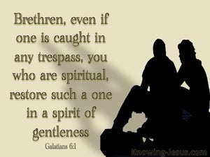 Galatians 6:1 Restore Such A One gold