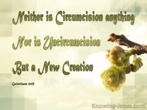 Galatians 6:15 Neither Circumcision Nor Uncircumcision But A New Creation sage