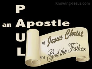 Galatians 1:1 Paul An Apostle (black)