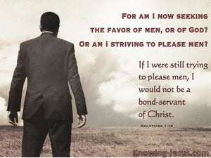 Galatians 1:10  Servant Of God Not Man (gray)