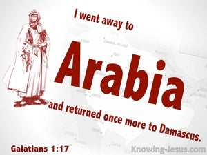Galatians 1:17 Paul Went To Arabia (red)