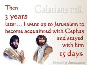 Galatians 1:18 Oaul Went To Jerusalem To Meet Peter (red)