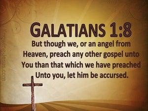 Galatians 1:8 No Other Gospel (brown)