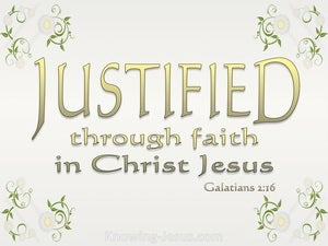 Galatians 2:16 Justified By Faith (gold)