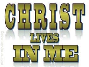 Galatians 2:20 Christ Lives In Me (sage)