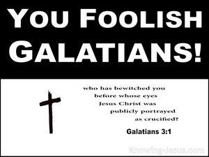 Galatians 3:1 You Foolish Galatians Who Has Bewitched You (white)