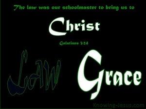 Galatians 3:24 The Law A Schoolmaster (green)