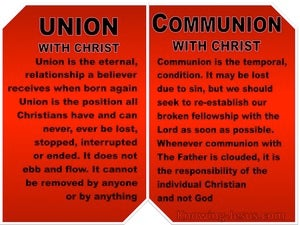 Galatians 3:27 Union and Communion WIth Christ Jesus