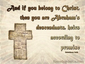 Galatians 3:29 Abraham's Heirs According To Promise (beige)