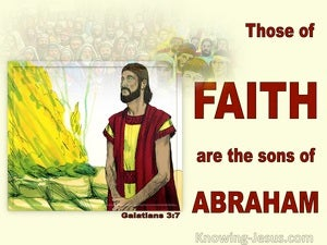 Galatians 3:7 Those Of Faith Are Sons Of Abraham (red)