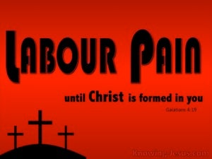 Labour Pain (devotional)  (black) - Galatians 4:19